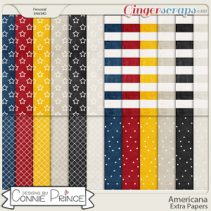 Americana  - Extra Papers by Connie Prince