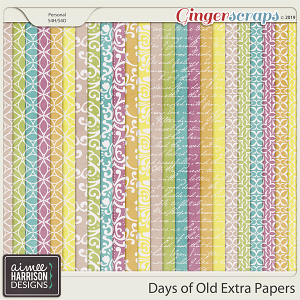 Days of Old Extra Papers by Aimee Harrison