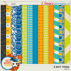 A Boy Thing Papers by JB Studio