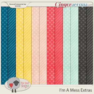 I'm A Mess Extra Papers by Luv Ewe Designs