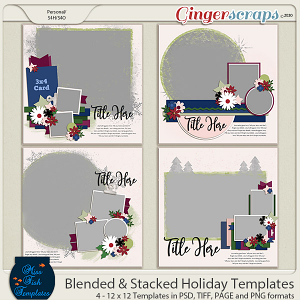 Blended and Stacked Holiday Templates by Miss Fish