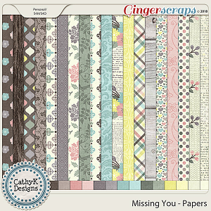 Missing You - Papers by CathyK Designs