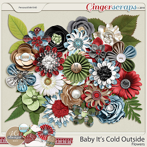 Baby It's Cold Outside Flowers by JoCee Designs