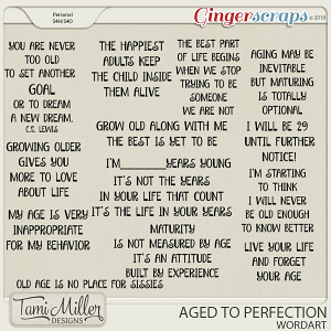 Aged to Perfection Wordart by Tami Miller Designs