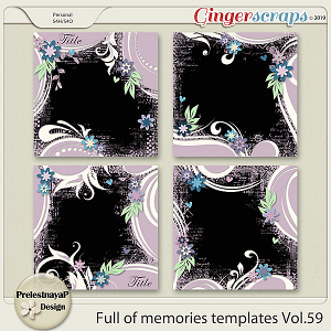 Full of memories Templates Vol.59