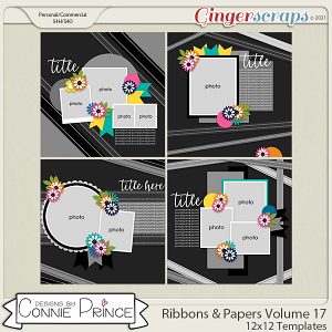 Ribbons & Papers Volume 17  - 12x12 Temps (CU Ok) by Connie Prince