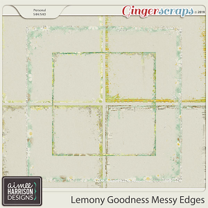 Lemony Goodness Messy Edges by Aimee Harrison