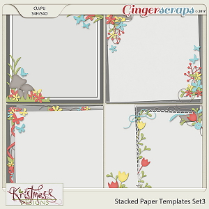 Stacked Paper Templates Set 3