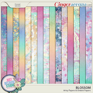 Blossom Artsy & Ombré Papers by JB Studio