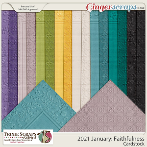 2021 January: Faithfulness Cardstock by North Meets South Studios