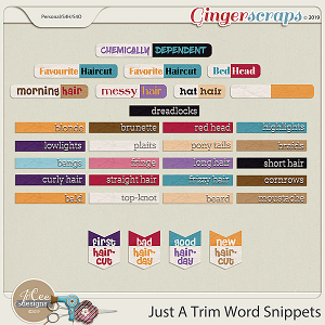 Just A Trim Word Snippets by JoCee Designs