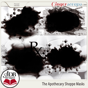 The Apothecary Shoppe Photo Masks by ADB Designs