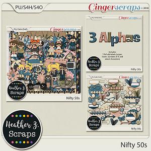 Nifty 50s BUNDLE by Heather Z Scraps