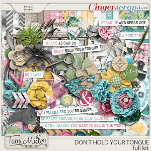 Don't Hold Your Tongue Full Kit by Tami Miller Designs