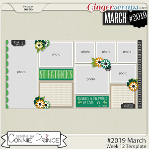 #2019 March - Week 12 Template Pack (CU Ok) by Connie Prince