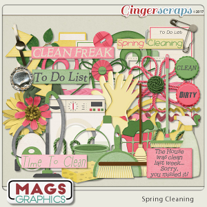 Spring Cleaning ELEMENTS by MagsGraphics