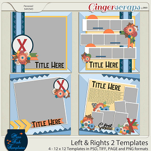 Lefts and Rights 2 Templates by Miss Fish