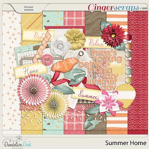 Summer Home Digital Scrapbook Kit by Dandelion Dust Designs
