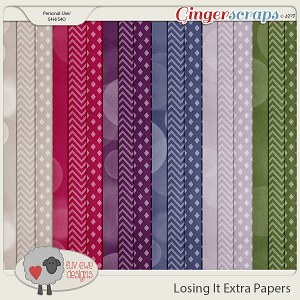 Losing It Extra Papers by Luv Ewe Designs