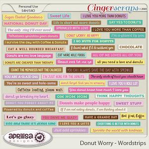 Donut Worry - Wordstrips