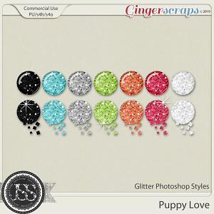 Puppy Love CU Glitter Photoshop Styles