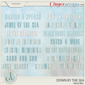 Down By The Sea Word Bits by Ilonka's Designs