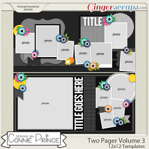 Two Pager Volume 3 - 12x12 Temps (CU Ok) by Connie Prince