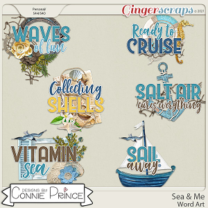 Sea & Me - Word Art Pack by Connie Prince