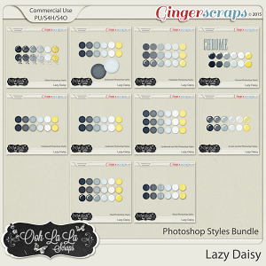 Lazy Daisy CU Photoshop Styles Bundle