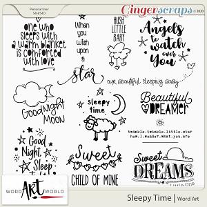 Sleepy Time Word Art