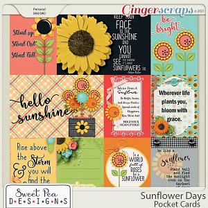 Sunflower Days Pocket Cards