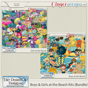 Boys and Girls at the Beach Kits {Bundle} by Day Dreams 'n Designs