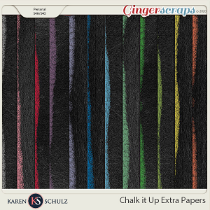 Chalk it Up Extra Papers by Karen Schulz