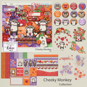 Cheeky Monkey collection by Scrapbookcrazy Creations