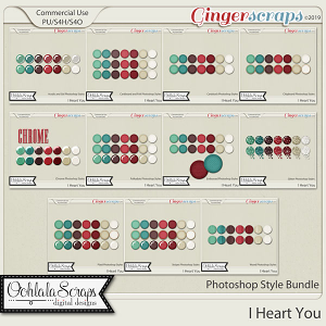 I Heart You CU Photoshop Styles Bundle
