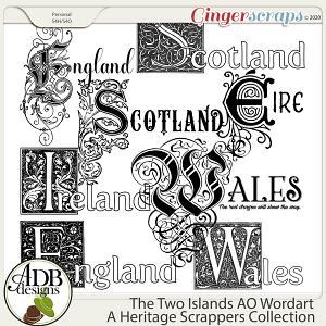 The Two Islands AO Wordart by ADB Designs