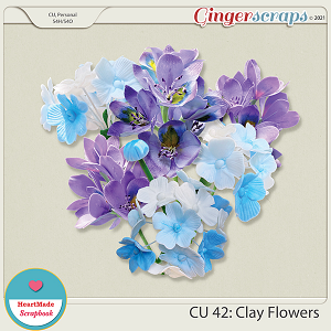 CU 42 - Clay flowers