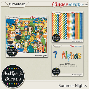 Summer Nights BUNDLE by Heather Z Scraps
