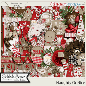 Naughty Or Nice Digital Scrapbooking Kit
