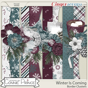 Winter Is Coming - Border Clusters by Connie Prince