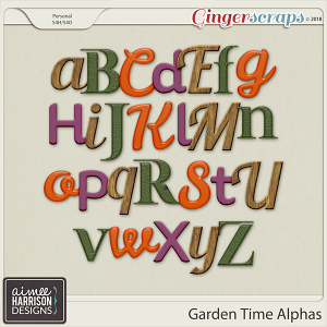 Garden Time Alpha Sets by Aimee Harrison