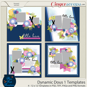 Dynamic Duo 1 Templates by Miss Fish