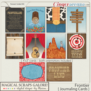Frontier (journaling cards)