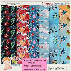 CU-Floral Spring Papers -Layered Templates By Cutie Pie Scraps