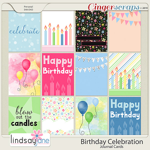 Birthday Celebration Journal Cards by Lindsay Jane
