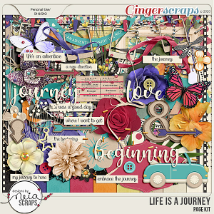 Life is a Journey - Page Kit - by Neia Scraps