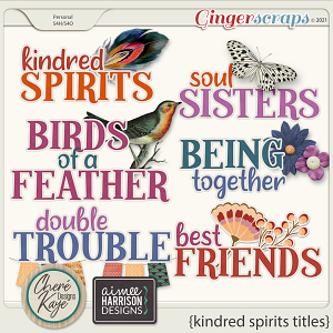 Kindred Spirits Titles by Chere Kaye Designs and Aimee Harrison