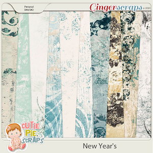 New Year's Shabby Chic Papers