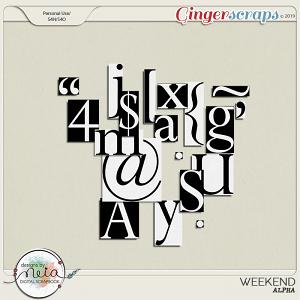 Weekend - Alpha - by Neia Scraps