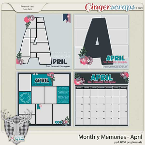 Monthly Memories - April by Dear Friends Designs by Trina